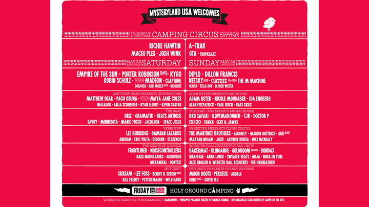 Mysteryland USA 2015 Line-Up
