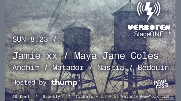 Stage One Jamie XX Flyer