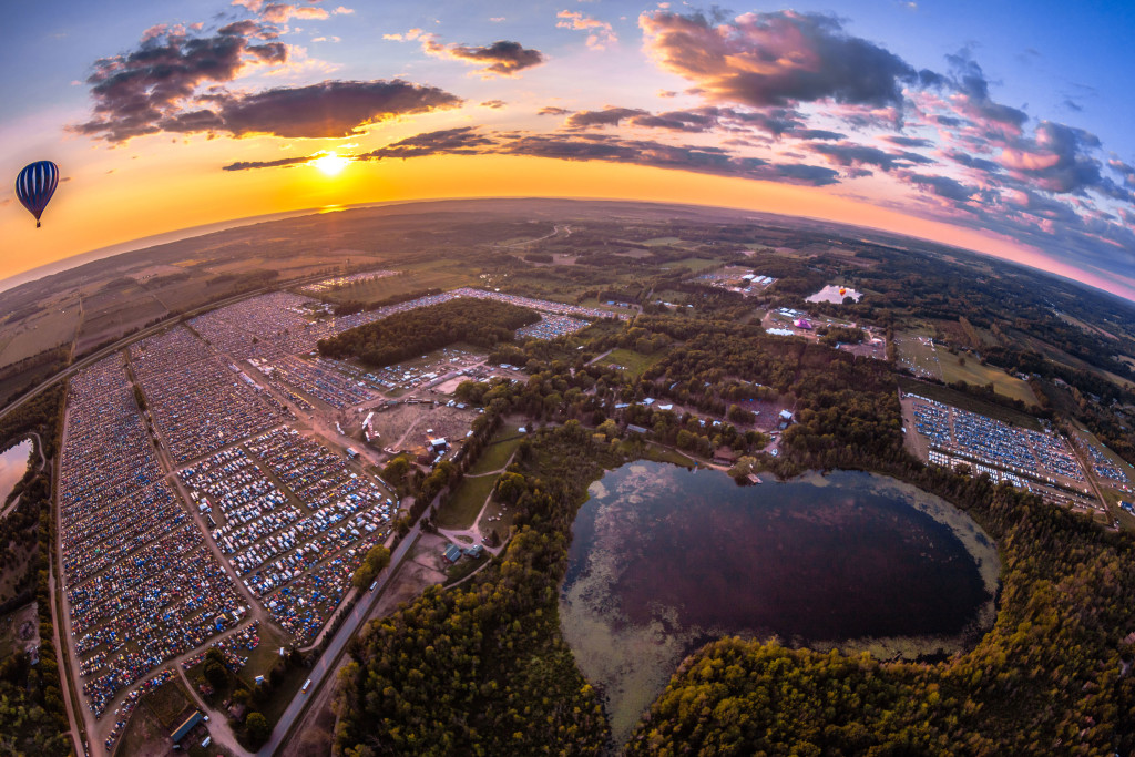 Electric Forest - Aerial View