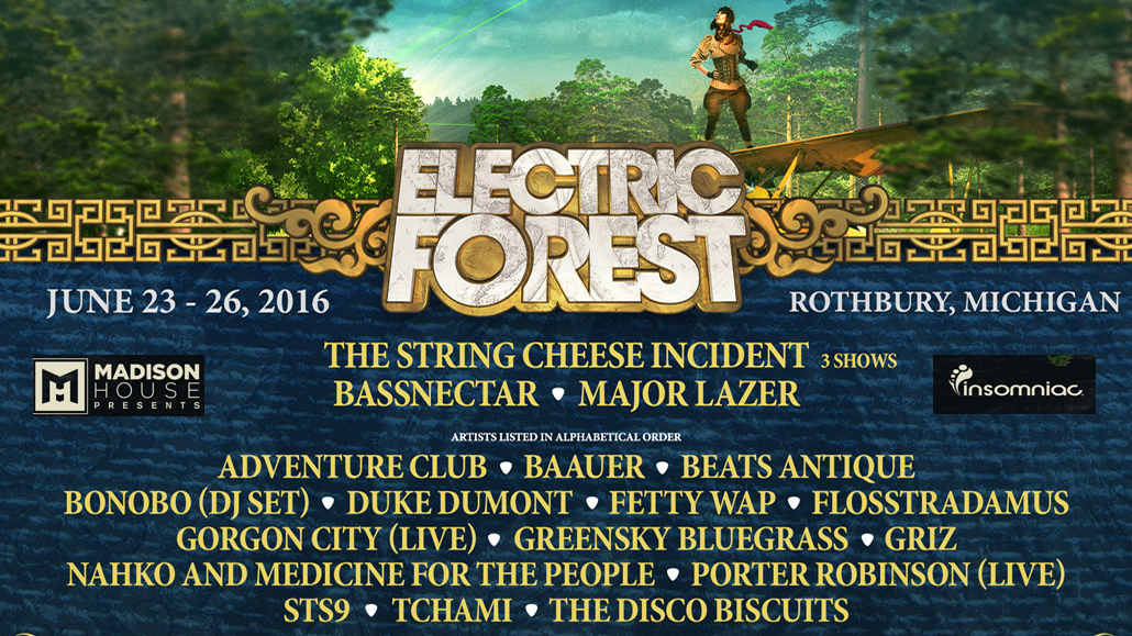 Electric Forest 2016 Line Up