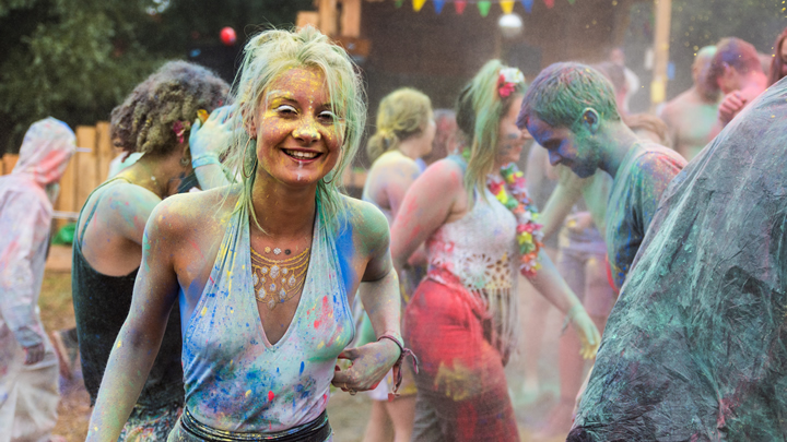 Nozstock The Hidden Valley 2016 - paint party - credit Clare Leach