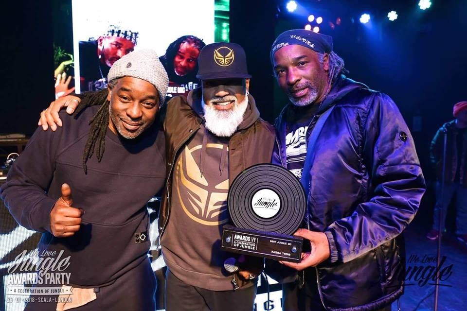 Ragga Twins with Ray Keith at the We Love Jungle Awards