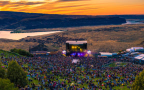 Aerial view of The Gorge Amphitheatre